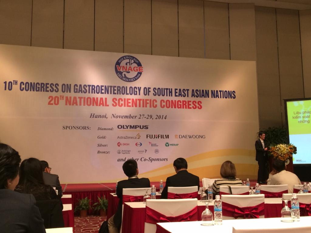 Báo cáo về OvalgenHP tại Hội nghị khoa học tiêu hóa khu vực Đông Nam Á 1