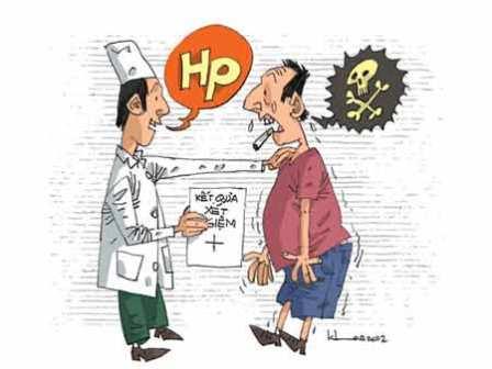 Bị viêm loét dạ dày do vi khuẩn Hp phải làm sao? 1