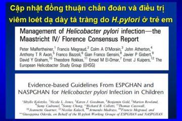 Cập nhật khuyến cáo điều trị nhiễm H. pylori ở trẻ em 2017
