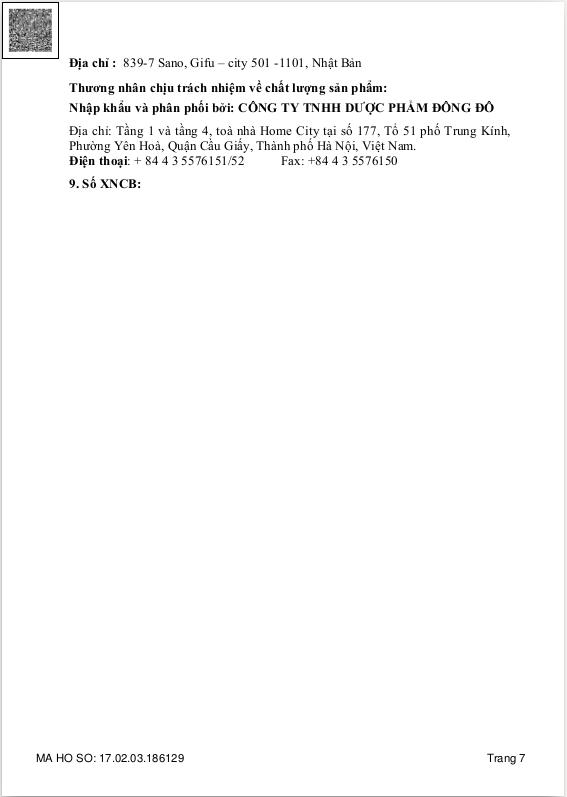 Chứng nhận lưu hành sản phẩmGastimunHPtại Việt Nam 7